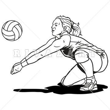 Épinglé par Rivalart.com sur Volleyball Clip Art