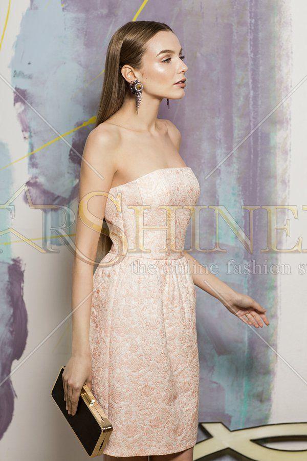 Simple Elegance Peach Dress