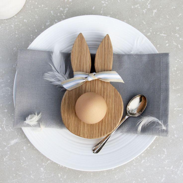 Wooden Bunny Ear Egg Cup ♥