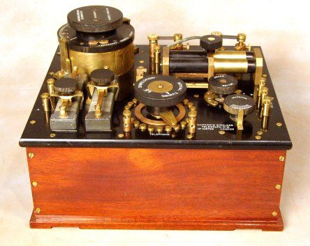 """Marconi Wireless 16 Crystal Radio Receiver. """"In 1918 a ship went down. Although I know nothing of the ship, it must have been a modern ship of its time being outfitted with a Marconi wireless station."""""""