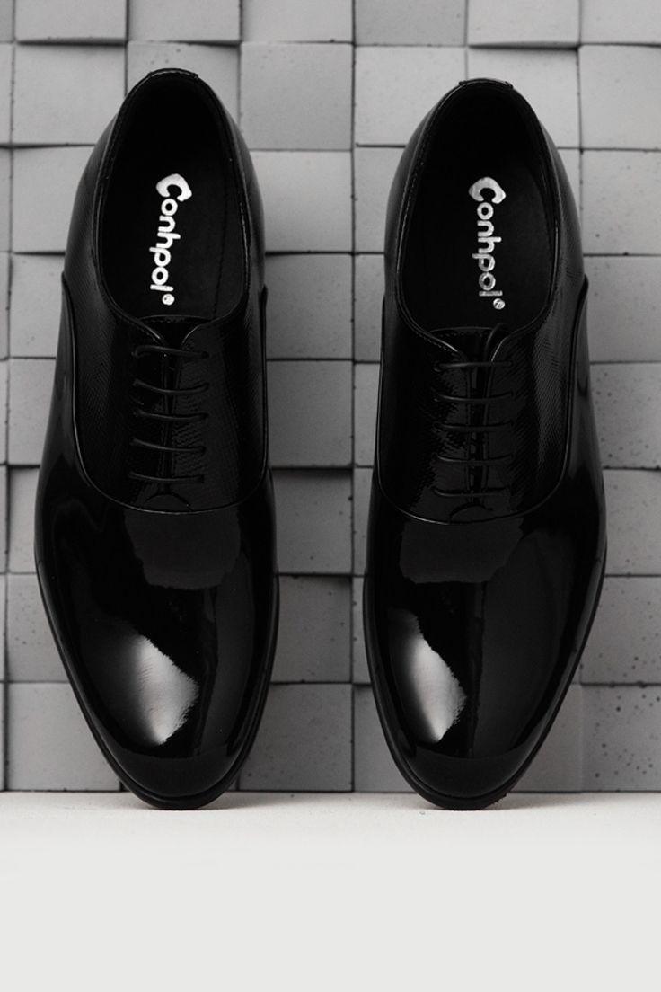 Podwyzszajace Eleganckie Skorzane Czarne Buty Dustin Ce0410 01 All Black Sneakers Black Sneakers