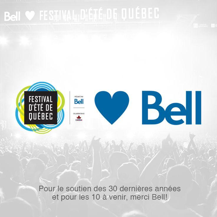 Entente historique avec notre fidèle partenaire Bell! Un investissement de 35 millions $ sur 10 ans pour le Festival et l'Impérial Bell!   Merci Bell!