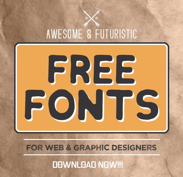 New Awesome & Futuristic Free Fonts for Designers #freefonts