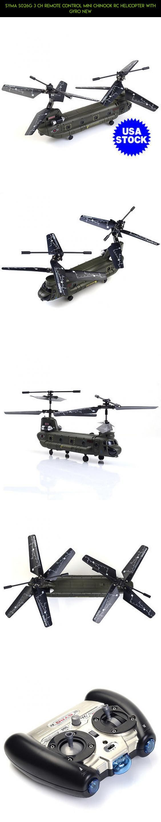 Syma S026G 3 CH Remote Control Mini Chinook RC Helicopter with GYRO New #plans #fpv #tech #parts #products #camera #syma #kit #drone #gadgets #chinook #racing #shopping #technology