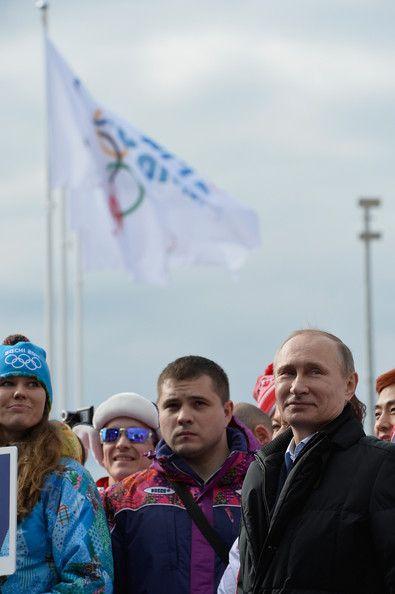Vladimir Putin Photos Photos - Russian President Vladimir Putin visits the Coastal Cluster Olympic Village ahead of the Sochi 2014 Winter Olympics on February 5, 2014 in Sochi, Russia. - Winter Olympics: Previews
