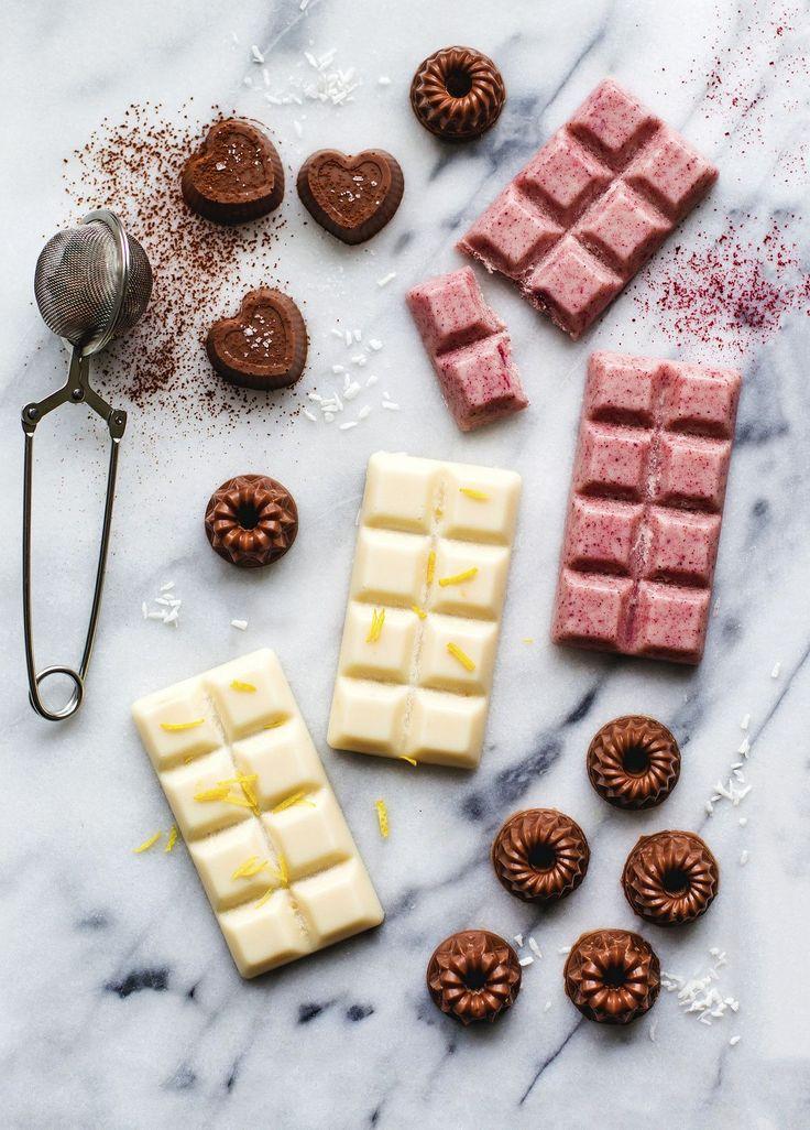 Gör egen choklad med kokos till alla hjärtans dag! (enkelt recept)