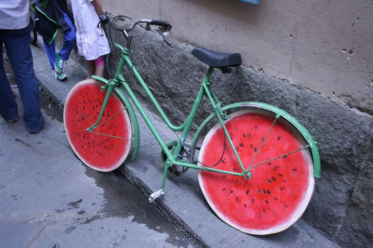 Watermelon bicycle in Florence