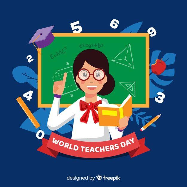 Download Flat Design Teachers Day Background For Free In 2020 Teachers Day Vector Free Print Design Template