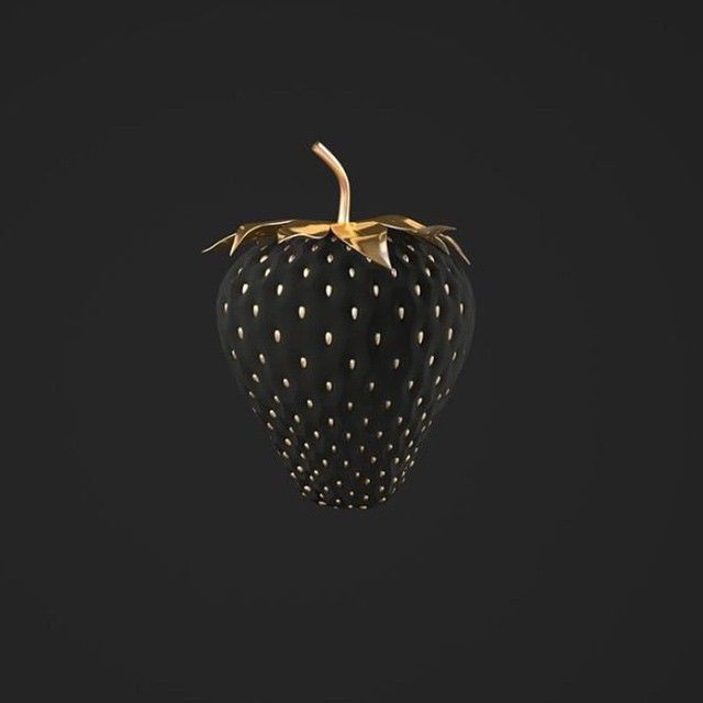 Design_dautore 2 Days Ago #black #strawberry For #lunch