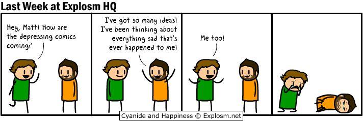 Explosm.net - Home of #Cyanide and Happiness #depressing comic week