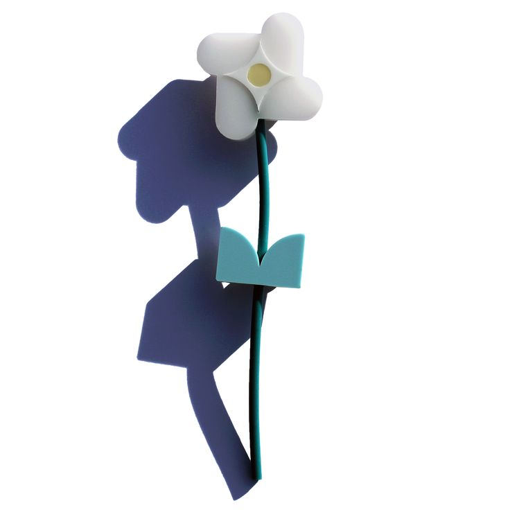 "From the ""cloud flower family"" the flower's petals of glowing white with their sweet blue long strong stems make this variety excellent as a cut flower. This flower brooch will de..."