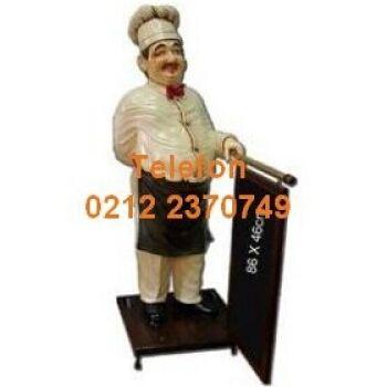 A973170 Restoran İçin Menü Tahtalı Ahçı Mankeni:Menü mankenleri bölümündeki bu menü tahtalı ahçı manken lokantalarda kafelerde restoranlarda menülerinizi tanıtır, işlerinizi arttırır. Menü tahtalı ahçı manken haricinde her türlü restoran kafe kebapçı heykellerini satıyoruz arayabilirsiniz 0212 2370749
