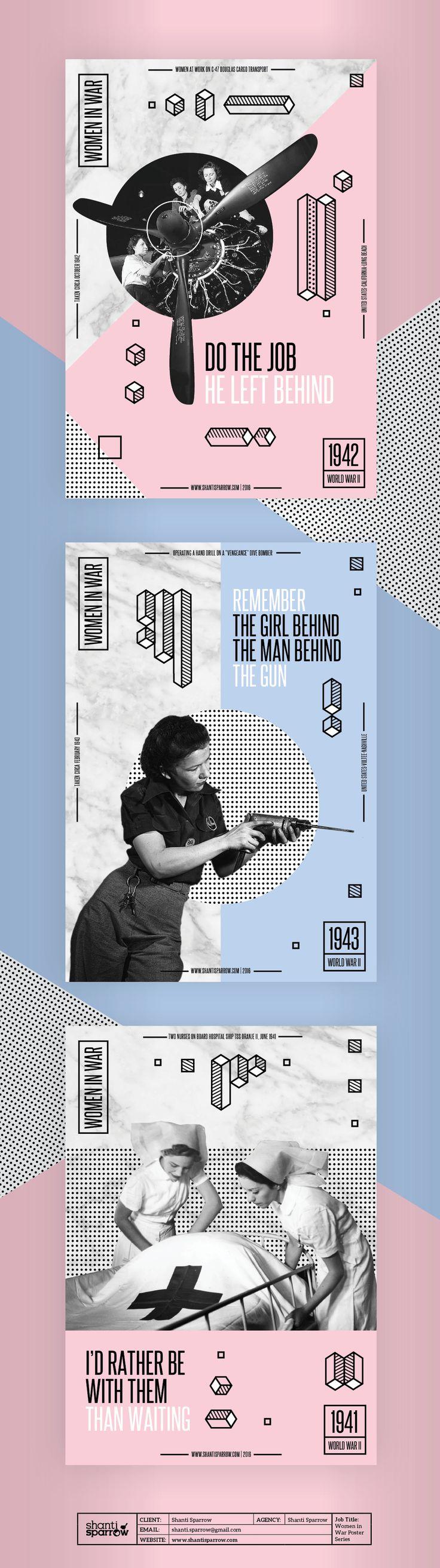 Women in War Poster Series on Behance