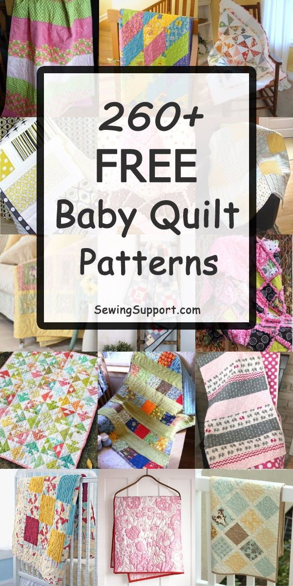Lots of Baby Quilt patterns, tutorials, and diy projects for boys and girls, plu…