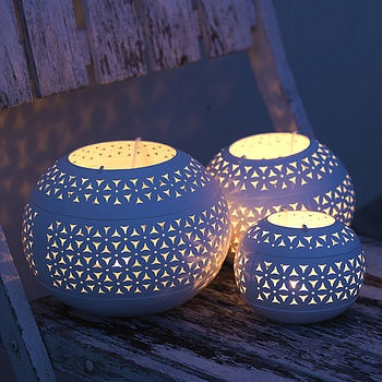 petal tea light holders