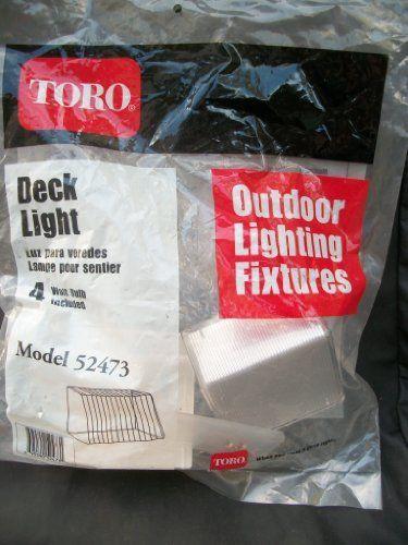 Toro Outdoor Lighting Low Voltage Deck Light with 4 watt bulb by Toro. $10.99 & 39 best Garden - Lighting images on Pinterest | Bronze Bulb and ...
