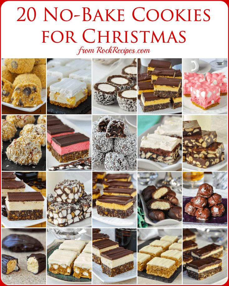 No Bake Christmas Cookies - 15 easy recipes that are freezer friendly too! A collection of popular no bake cookies that are perfect for Christmas treats.