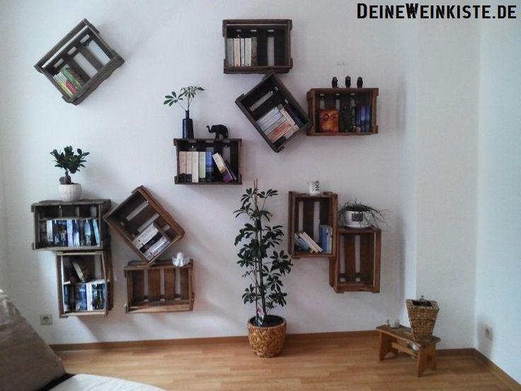 50 best #07 Weinkisten-Hängeregale images on Pinterest - küchenregal mit beleuchtung