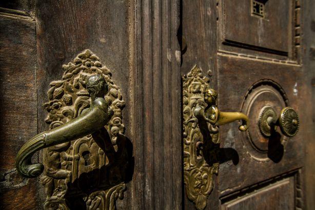 Decorative door handles in Sibiu Romania