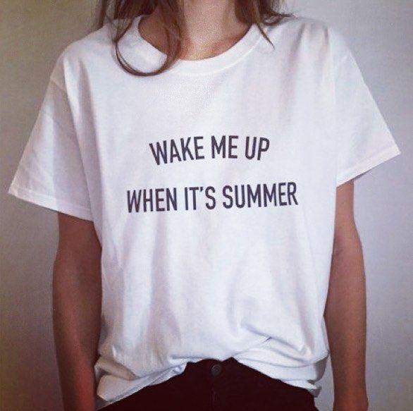 New The 10 Best Home Decor With Pictures Wake Me Up When Its Summer تنفيذ جميع أنواع الطباعة على ا T Shirts For Women White Top Women Casual Shirts