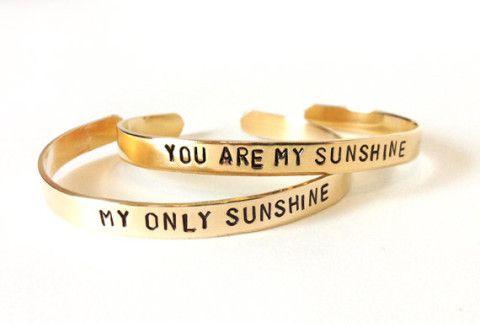 best friend bracelets - you are my sunshine my only sunshine