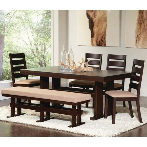 Travis Contemporary Rectangular Dining Table With Pierced Pedestal Bases By Coaster