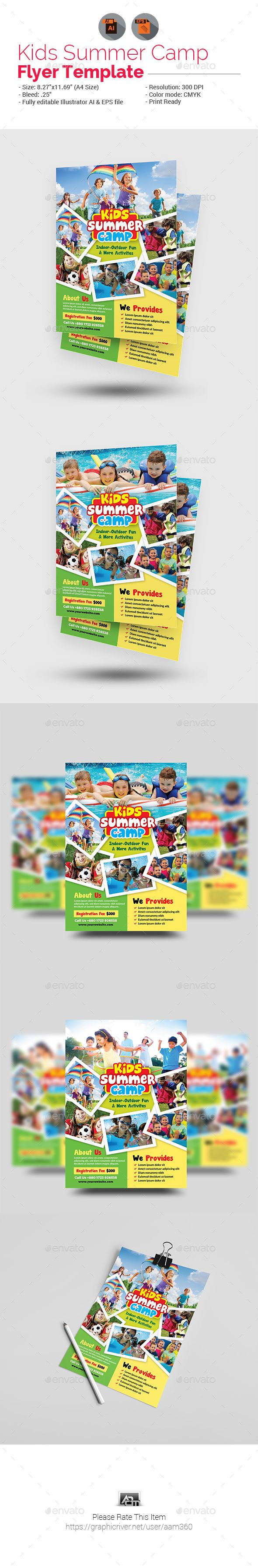 Best Kids Summer Camp Print Templates Images On