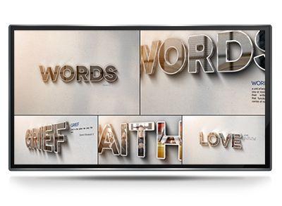 """Words - Project for After Effects Words - Это очень романтичный, эмоциональный проект. Некоторые слова сильнее, чем другие. Мы связываем гораздо больше со словом """"любовь"""", чем с чем-либо еще. Слова хороший способ выразить свои чувства, помимо изображений."""