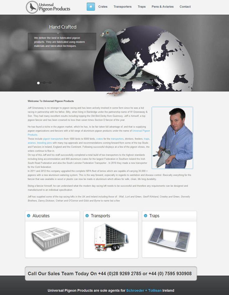 Universal Pigeon Products - three60design Banbridge Northern Ireland - Web Design