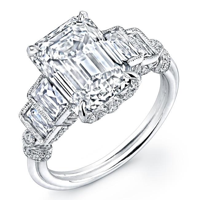 Asscher cut diamond engagement ring Engagement Rings Pinterest