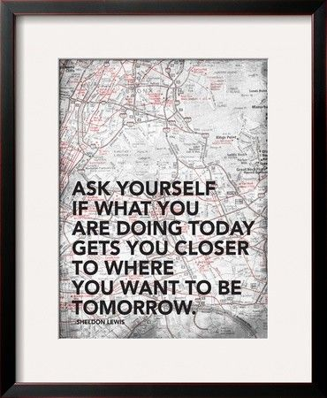'Ask Your Self' by Jace Grey Framed Textual Art