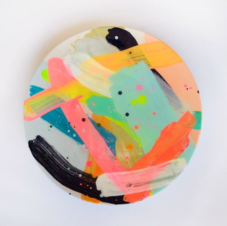 Hand Painted Dinner Plate 5