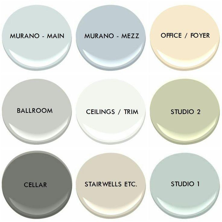 Our full paint colour pallet