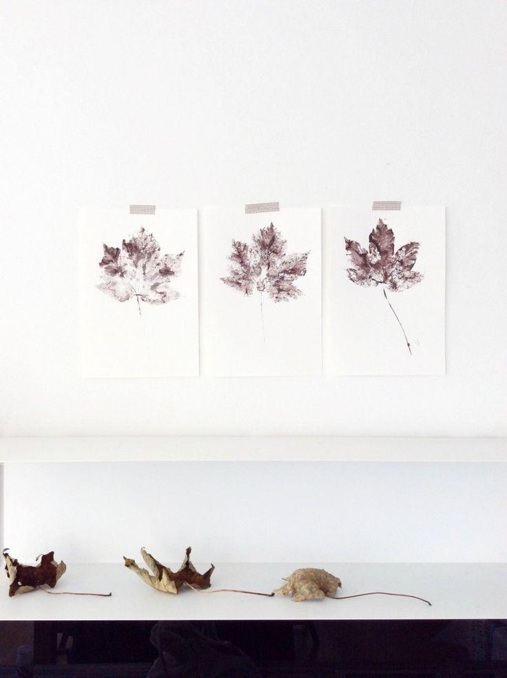 free printable Herbstdekoration - Herbstblätter zum Ausdrucken // von knobz