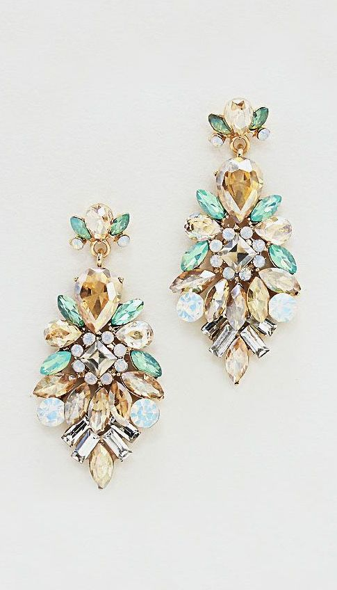 Mint + Champagne Earrings