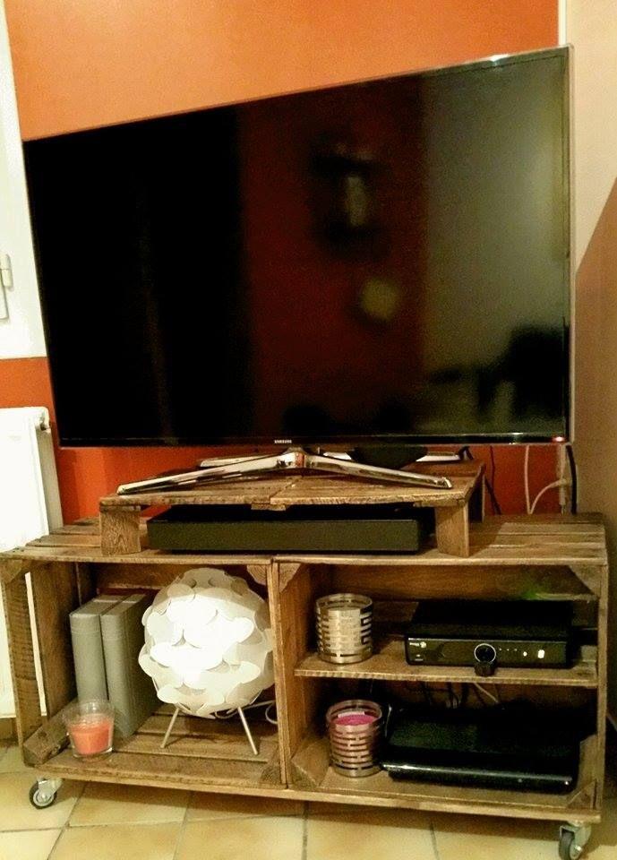 meuble t l caisse pomme by steve. Black Bedroom Furniture Sets. Home Design Ideas