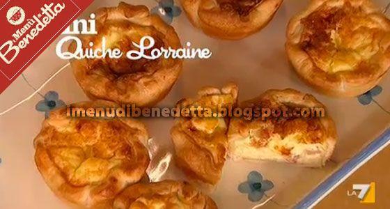MINI QUICHE LORRAINE - Una ricetta francese per nome e ingredienti, che si può servire come ottimo antipasto, la cottura in forno rende l'impasto soffice e gusto...