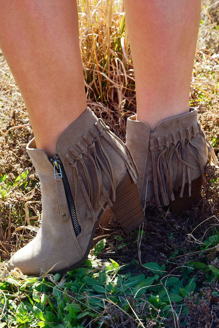 Come Together Booties: Taupe #shophopes