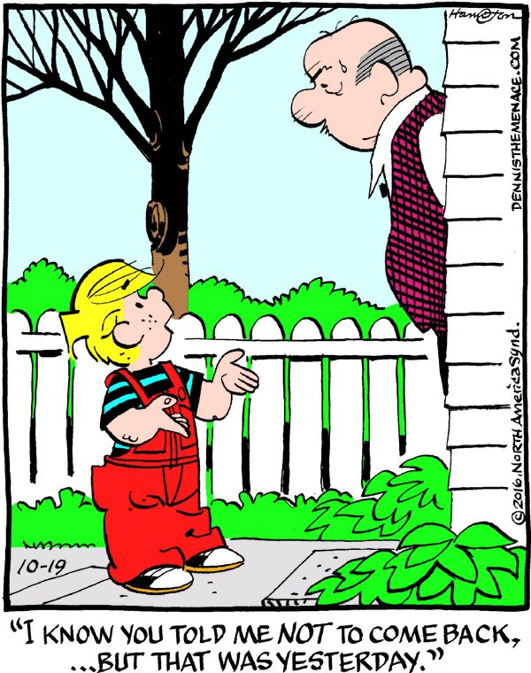 Dennis the Menace for 10/19/2016