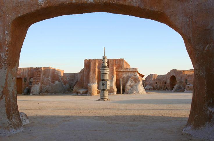 Abandoned Star Wars set in the Sahara Desert in Tunisia  - Abandoned Star Wars set in the Sahara Desert near Tozeur, Tunisia