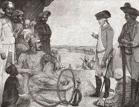 Shah Alam reviewing troops of the British East India Company