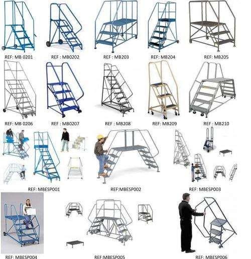 Escaleras moviles tipo avion en hierro o aluminio