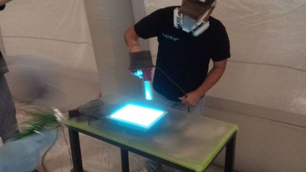 We Paint Light!! | TD Customs Electroluminescent paint lets us paint anything into a real light!
