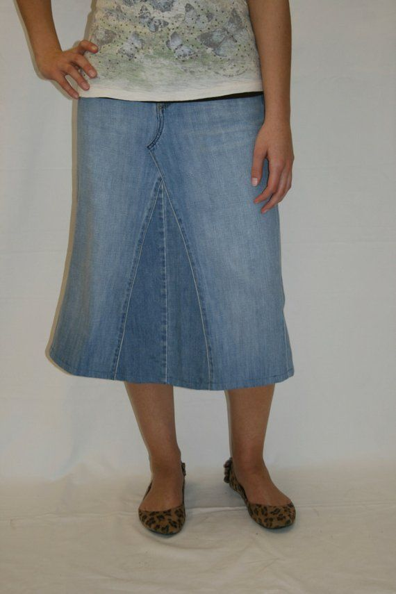 11e11c546e3f Simplicity Denim Skirt Below Knee Midi Plus Size Clothing Apostolic Clothing  Modest Skirt Anniversary Gift Birthday Gift Christmas Gift | Denim Skirts  ...