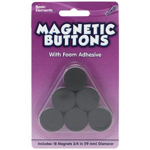 Kids Craft Magnetic Buttons with Foam Adhesive. Great for making door decorations.