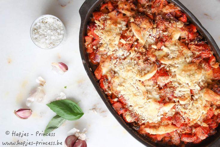 ovenschotel met kip, tomaten en mozzarella-4