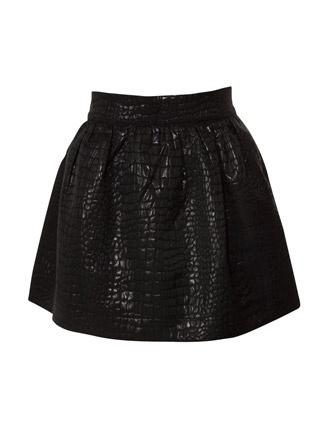 Miso Textured Mini Tulip Skirt