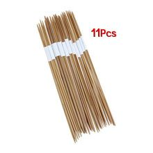 KSOL 11x4 шт. 25 см двойной указал бамбуковые спицы диапазон: 2.0-5.0 мм(China (Mainland))