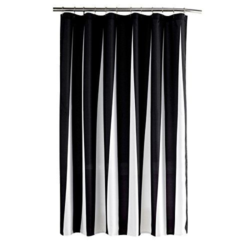 Fabric Shower Curtain Striped White and Black Waterproof/... https://www.amazon.com/dp/B01I92C13O/ref=cm_sw_r_pi_dp_x_DCdbybWZMT994