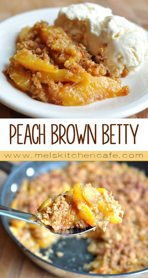 This Peach Brown Betty is one delicious way to use up peaches.